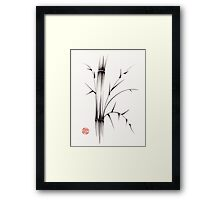 'Simplicity' paper & brush ink pen hand drawing Framed Print