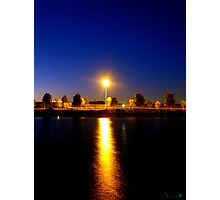 A Lone Light Can Shine Brightest Photographic Print