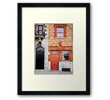 Orange Facade Framed Print