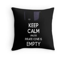 Five Nights at Freddy's: Keep Calm Unless Pirate Cove is Empty Throw Pillow
