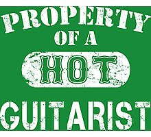 Property Of A Hot Guitarist - Unisex T shirt Photographic Print