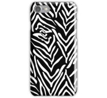 Black and White Zebra Print iPhone Case/Skin