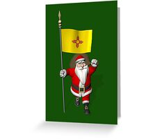 Santa Claus With Flag Of New Mexico Greeting Card