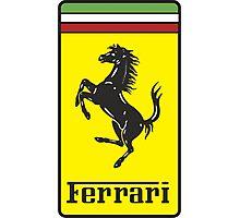 Vintage Ferrari Logo Photographic Print
