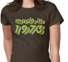 Made in 1973 (Green&Grey) Womens Fitted T-Shirt
