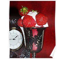 Strawberries & Cream Poster