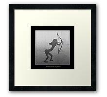 Cavewoman Archer  Framed Print