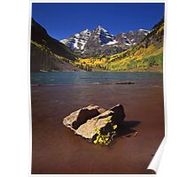Maroon Bells and Rock Poster