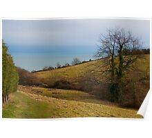 Coastal Path Above Lyme Regis Poster