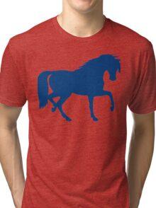 Trotting Horse Silhouette Tri-blend T-Shirt