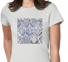 Art Deco - Winter Blues Womens Fitted T-Shirt