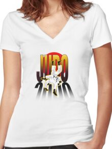 JUDO Women's Fitted V-Neck T-Shirt