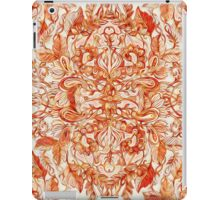 Art Nouveau Pattern in Pumpkin Spice iPad Case/Skin