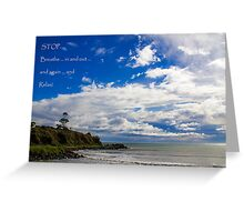 Breathe & Relax Greeting Card