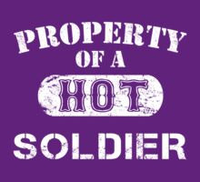 Property Of A Hot Soldier - Unisex Tshirt by crazyshirts2015