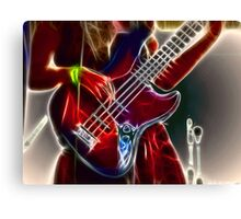 She Rocks The Bass! Canvas Print
