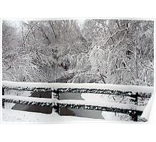 Winter Bridge View Poster