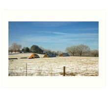 WINTER COUNTRY SCENE Art Print