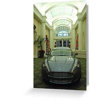 Aston Martin Rapide Greeting Card