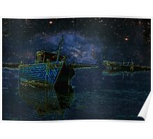 Boats Under Starry Night - Kuwait Poster
