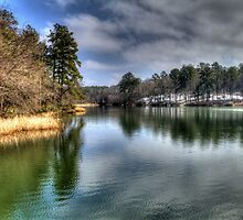 Lake at Tyler State Park by Terence Russell