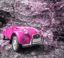 Pink 2CV  by Rob Hawkins