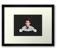 Spooky Mulder Framed Print
