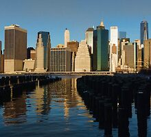 New York City Morning Reflections - Impressions Of Manhattan by Georgia Mizuleva