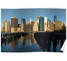 New York City Morning Reflections - Impressions Of Manhattan Poster