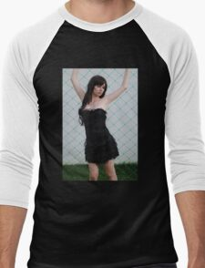 Black Corset 2 Men's Baseball ¾ T-Shirt