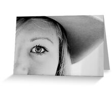 Eye of a Cowgirl Greeting Card