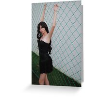 Black Corset 5 Greeting Card