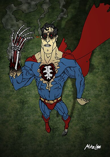 """Super Zombie """"HOT, HOT, HOT!!"""" - Coloured by Michael Lee"""