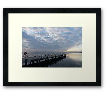 Morning Jetty - A Luminous Daybreak On The Waterfront Framed Print