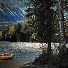 Moonlight and Mountains - Cooper Landing, Alaska by Dyle Warren