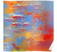 Fire and Water Abstract Poster