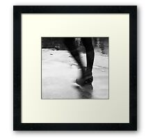 My heart under your foot, sister of a stone Framed Print
