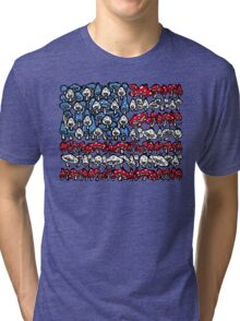 American Flag Mushrooms Tri-blend T-Shirt