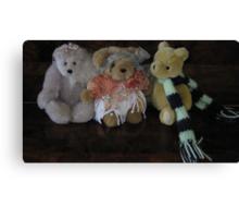 Three Little Teddies. Canvas Print