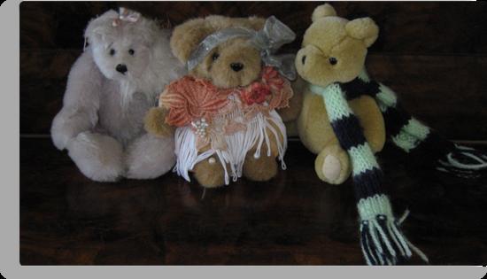 Three Little Teddies. by Mywildscapepics
