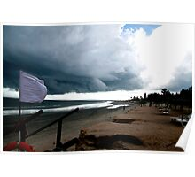 Storm above the sea - horizontal Poster