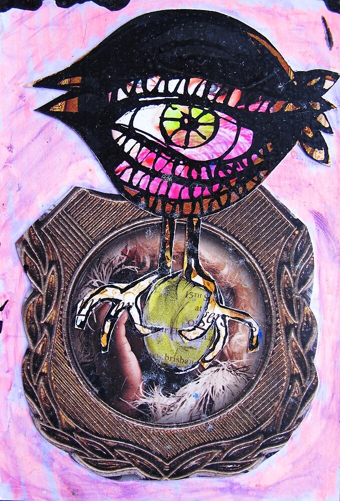 bird with precious egg by donna malone