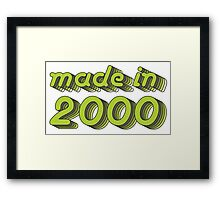 Made in 2000 (Green&Grey) Framed Print