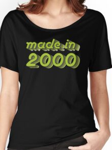 Made in 2000 (Green&Grey) Women's Relaxed Fit T-Shirt