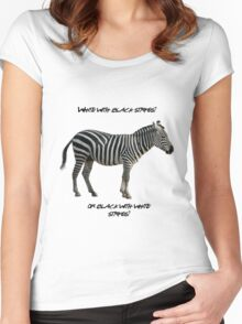 Zebra Stripes Women's Fitted Scoop T-Shirt
