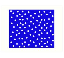 Polka Dot Blue and White Cushion & Bed Cover Art Print