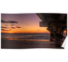 Jurien Bay Jetty at Sunset Poster