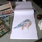 Under construction pastel in progress by patjila