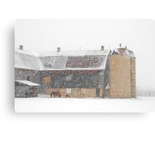 Winter Farm Scene Canvas Print