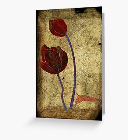 2 tulips Greeting Card